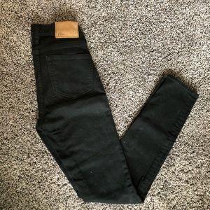 J Crew high waisted black skinny jeans